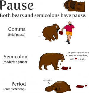 How to Use Semicolons From TheOatmeal.com! The Most Feared Punctuation ...