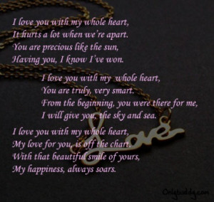 love poems for wife - short love poems message for wife