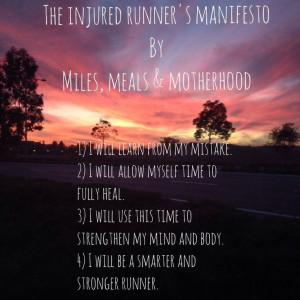 The Injured Runner's Manifesto #running #injured #run