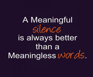 Quotes About Silence Quotes on silence