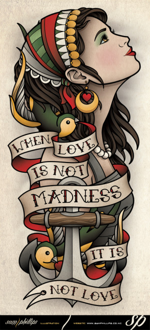 This is a gypsy forearm tattoo I designed for Erik Akervall. Copyright ...