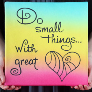 Quote Art Canvas: National Craft Month Project & Giveaway