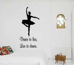 923-KMQ Ballerina decal-Quote decal-Ballerina sticker-Quote sticker ...
