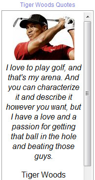 quotes made by tiger woods who is an american professional golfer ...
