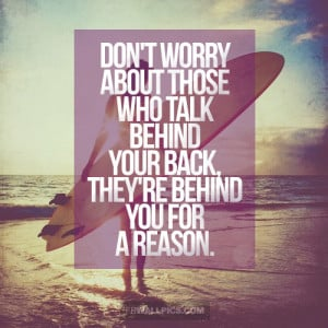 People Who Talk Bad About You Advice Quote Picture