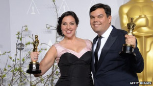 Robert Lopez shared the Oscar with his wife, Kristen Anderson-Lopez