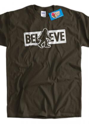 Funny Sasquatch Bigfoot Shirt Believe Squatch Flip Screen