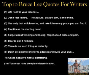 Top 10 Bruce Lee Quotes for Writers