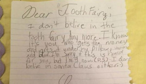 Tooth Fairy Letters to Little Girls