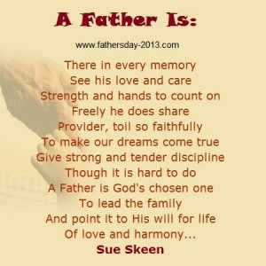 Inspiring Collection of Father's Day Poems 2014