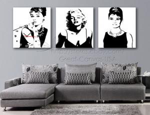 by audrey marilyn monroe vinyl wall funlife audrey hepburn wall