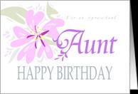 Aunt Birthday Card Fuchsia...