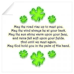 CafePress > Wall Art > Wall Decals > Old Irish Blessing Wall Decal