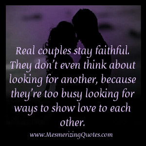 Real people in real couples sometimes do stray, but real relationships ...