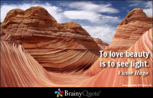 To love beauty is to see light. - Victor Hugo