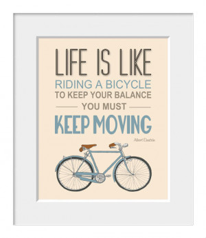 Bicycle poster, inspirational quote, quote art, nursery decor, bike ...