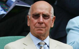 National treasure: Sir Bobby Charlton keeps an eye on the new ...