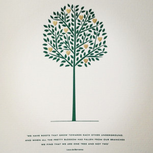 Two roots make one tree #quote #love #saying