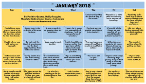 monthly motivational quotes Calendar, motivational quotes Calendar ...