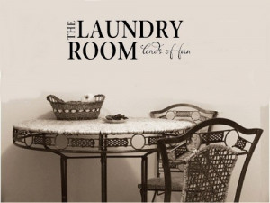 THE LAUNDRY ROOM LOADS OF FUN Vinyl wall lettering stickers quotes and