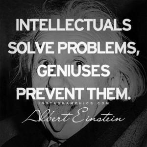Solving Problems Albert Einstein Quote Graphic