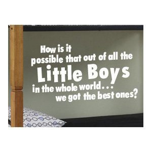 ... Wall Sticker Art Inspirational Decal Quote Little Boy Brother Room B31