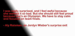 Jordyn Wieber Gymnastics career faces major challenge? Quote by Aly ...