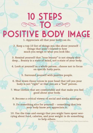 10 steps to positive body image