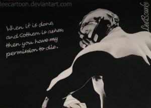 Bane (Batman 2012) with quote (Batman set: 1 of 3) by LeeCartoon