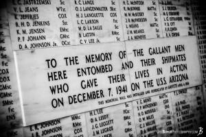 USS Arizona Memorial Wall Quote