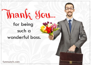 Thank You For Being Such A Wonderful Boss - Happy Boss's Day Graphic