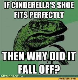 shoe fits perfectly then why did it fall off / shoes :: funny ...