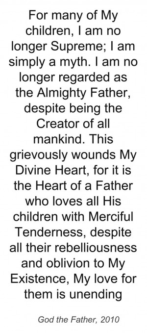 Quote from the Devotion to the Divine Heart of God the Father, 3rd ed ...