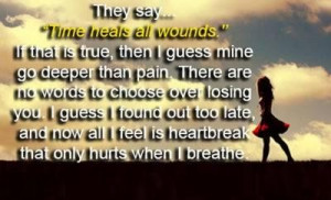 Time heals all wounds quote