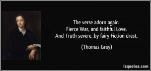 The verse adorn again Fierce War, and faithful Love, And Truth severe ...