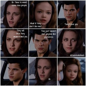 ... part 2 bella and jacob talking to renesmee about meeting their cousins