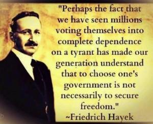 Friedrich Hayek Quote