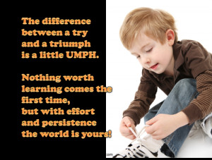 QUOTE & POSTER: The difference between a try and a triumph is a little ...