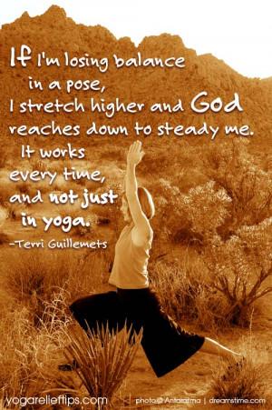Inspirational Quote: If I'm Losing Balance…