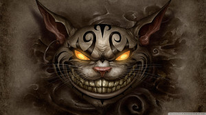 ... Cheshire Cat Wallpaper 1920x1080 Alice Madness . .Facing Demons Quotes
