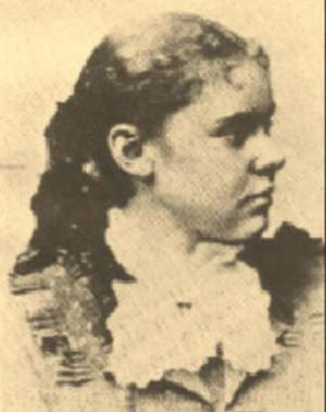 Lizzie Borden em uma foto da adolescencia.