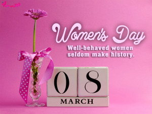 ... Women's Day Wishes and Greetings Quote Card Image 8 March Womens Day