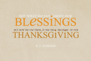 thanksgiving quote thankful for my family and friends