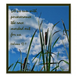 Perseverance Christian Poster by pamdicar