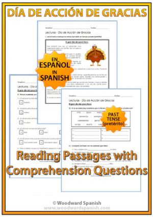 Thanksgiving Reading in Spanish – Día de Acción de Gracias