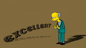 quotes shadows The Simpsons Mr_ Burns wallpaper background