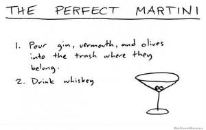 How to make the perfect martini – comic