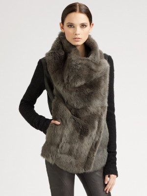 Helmut Lang Rabbit Fur Coat