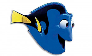 Dory the blabby fish.