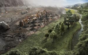 ... artwork industrial plants rivers enviro Space Planets HD Wallpaper